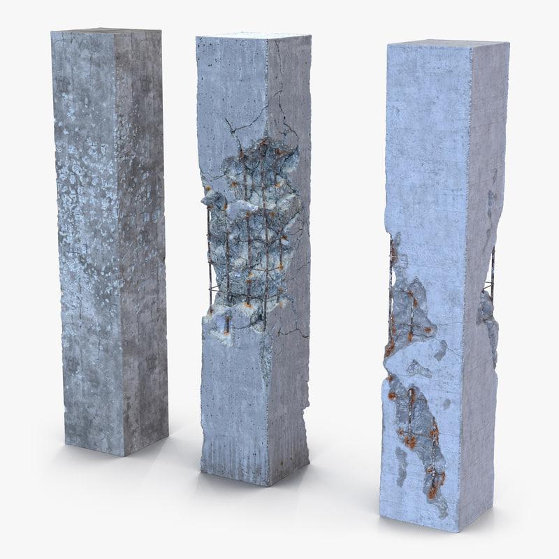 Concrete Pillars Set 3d models 01.jpg