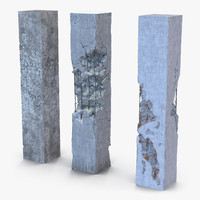 concrete pillars set max