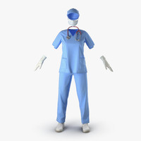 female surgeon dress 15 3d 3ds