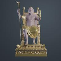 ancient statue zeus 3d model