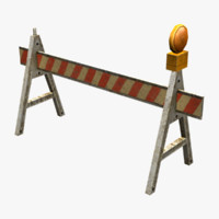 construction barrier 3d 3ds