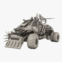 3d model of apocalyptic truck