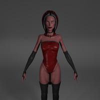3d devil woman model