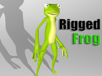 3d cartoon frog character skin model
