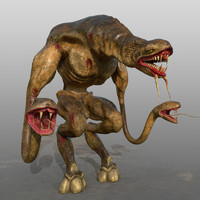 3d model of monster snake