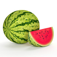 watermelon fruit 3d max