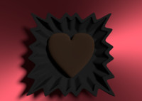 3d heart chocolate model