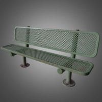 Outdoor Park Bench- PBR Game Ready