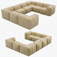 Restoration Hardware Preconfigured Fulham Upholstered U-Sofa Sectional