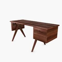desk pierre jeanneret 3d max