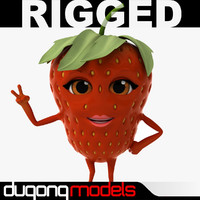 dugm07 rigged cartoon 3d model