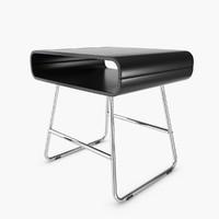 nightstand baxton studio ramsey 3d model