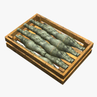 wooden box ammo 3d model