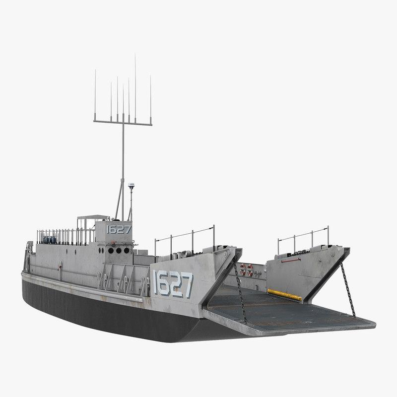 Landing Craft Utility class 1627 3d model 01.jpg