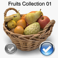 fruits ready unreal 3d max