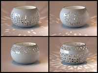 3d ceramic bowl tealight model