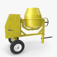 cement mixer 3d model