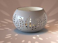 3d model of ceramic candle