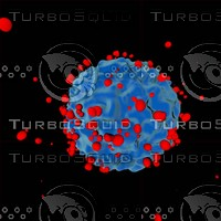 cell attacked virus disease 3d model