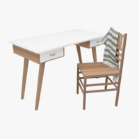 Scandinavian Style Study Table & Chair