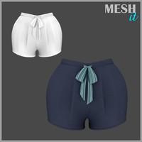 3d shorts blue