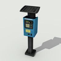 parking meter - 3d model