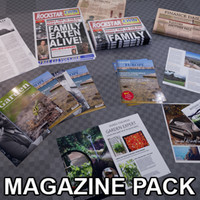 3d magazines newspapers ready pbr