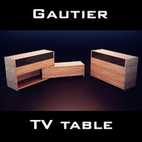 3d model gautier quartz chest drawers