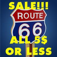 route 66 sign 3d model