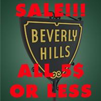 3d model beverly hills sign