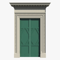 renaissance entrance door 3d model