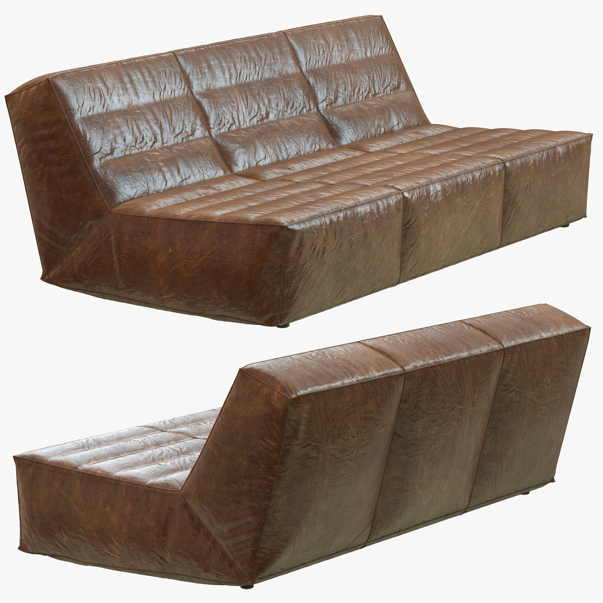Restoration hardware chelsea leather sofa 3d max for Chelsea leather sofa