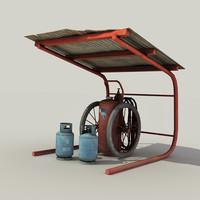 3d model retro extinguisher -