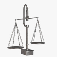 balance scale obj