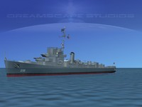 guns buckley class destroyer 3d 3ds