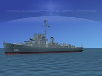 guns buckley class destroyer 3d max
