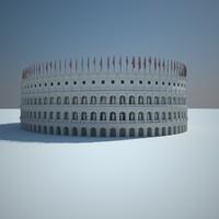 roman colosseums statues 3d model