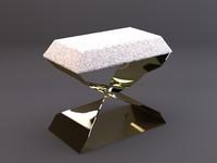 max carol egan bronze stool