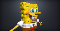 spongebob character sc1 3d model