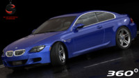 3d model bmw m6 coupe 2010