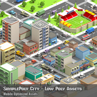 SimplePoly City - Low Poly Assets
