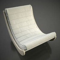 3d verner panton relaxer chair model