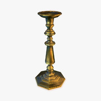3d model of brass candle holder 2