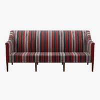 3d kk60921 greek sofa 3 seater model