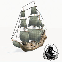 medieval galleon 3d 3ds