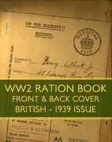 WWII Ration Book (1939 issue)