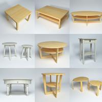3d model furniture tables