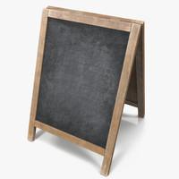 chalkboard board chalk 3d max