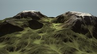 Eroding Mountain Range