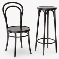 Classic Thonet's 14 vienna chair and bar stool